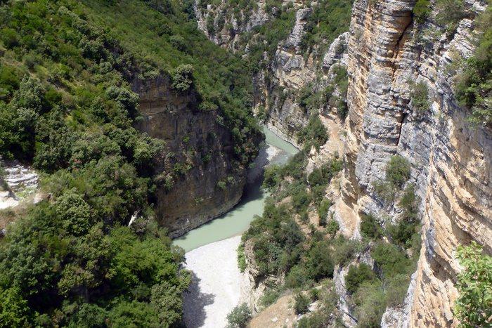 Die Canyons des Osum Flusses, Skrapar