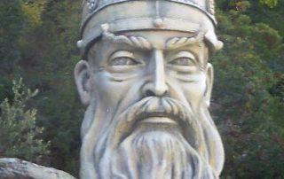 Denkmal des Nationalheldes Skanderbeg, bei Elbasan
