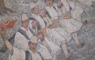 Volkstanz, Mosaik in Gjirokastër